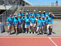 Northstar New Jersey and New Jersey Lottery staff volunteers gather at Princeton University's Weaver